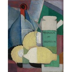 Ángel Zárraga (1886-1946) - Still Life with Lemons and Tapioca