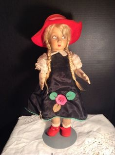 "~ Nice! Antique 19"" Tagged LENCI Teen Doll All Original ~"