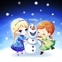 Little Elsa and Anna.