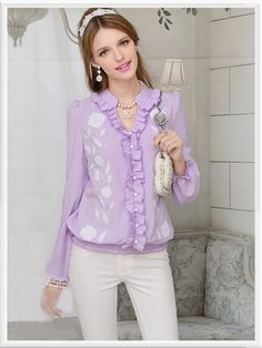 Morpheus Boutique  - Purple Button Down Long Sleeve Celebrity Floral Shirt, CA$82.04 (http://www.morpheusboutique.com/purple-button-down-long-sleeve-celebrity-floral-shirt/)