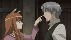 Spice and Wolf ^__^ This anime is just cute! I love Holo and Lawrence n'aww Anime Wolf, Manga Anime, Anime Art, Anime Couples, Cute Couples, Spice And Wolf Holo, Wolf Deviantart, Wolf Quotes, Anime Reviews