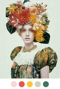 @: Headdress, Flower Crown, Head Flourish, Head Embellishment, Fleur Halo, Floral Tiarra