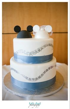 Disney Wedding Cake Topper Hats #weddings