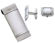 Visol Ales Stainless Steel Money Clip and Cufflinks Gift Set