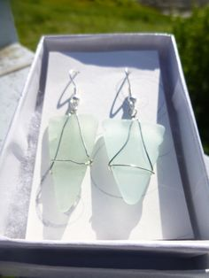 Teal Seaglass Earrings by BeachBumsLife on Etsy #teal #seaglass #earrings #maine #beach #mermaid #jewelry