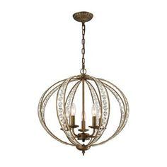 Elk Elizabethan 5-light LED Chandelier in Dark Bronze