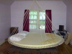 Image detail for -Bed Swing circle-bed-swing – Funny Pictures, Art & Design, Funny . Ceiling Bed, Creative Beds, Floating Bed, Hanging Beds, Hanging Furniture, Round Beds, Dreams Beds, Awesome Bedrooms, Cool Beds
