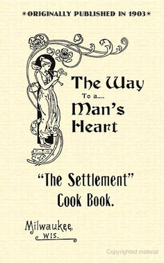 Settlement Cook Book (PB) - Settlement House - Google Books