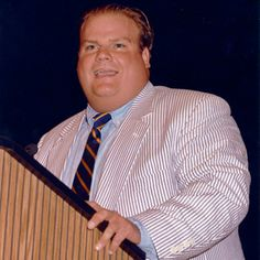 Comedy great Chris Farley (1964-1997) was born on Feb. 15, 1964. Chris is pictured speaking before the 1993 graduates of Marquette's College of Communication as Matt Foley, Motivational Speaker (minus the glasses).