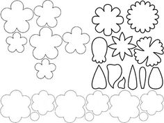 moldes de flores y rosas de fomi - Buscar con Google