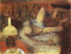 Female Nude Reclining on a Bed  Edgar Degas