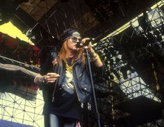 """""""Axl Rose (Guns N' Roses) performing at The Donington Monsters of Rock Festival in August 1988."""""""