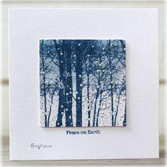 Penny Black Snowy Grove/looks like indigo blue bare forest sweet