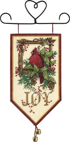Amazon.com - Dimensions Needlecrafts Counted Cross Stitch, Cardinal Joy Mini Banner - Counted Cross Stitch Kits
