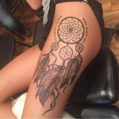 Tattoo dream catcher Roman numerals - http://tattootodesign.com/tattoo-dream-catcher-roman-numerals/ | #Tattoo, #Tattooed, #Tattoos