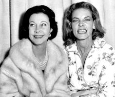 Vivien Leigh and Lauren Bacall in the 1960s