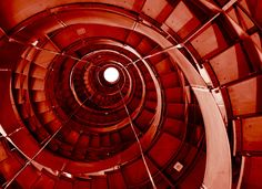 Staircase at the Lighthouse II   This time in red.   Stewart   Flickr