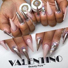 ✨💖✨ @valentinobeautypure @vetro_usa #nails #nailart #MargaritasNailz #stilettonails #dustfreelife #glitternails #nailfashion #vetrogel #naildesign #nailswag #hairandnailfashion #wakeupandmakeup #nailedit #valentinobeautypure #teamvalentino #naillove #nudenails #nailprodigy #nailpromagazine #hudabeauty #nailsofinstagram #nailaddict #nailstagram #nailtech #nailsoftheday #nailedit #nailsonfleek #nailpro #nails2inspire #rosegold #nailporn