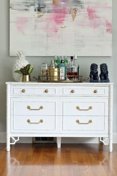 From Bliss at home- diy to paint and crockpot method for removing paint from brass