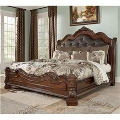 Valraven King Sleigh Bed Ashley Furniture Homestore Furniture In 2018 Pinterest Bed
