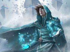 Jace Beleren Fanart by Li Feng Fantasy Heroes, Fantasy Male, Fantasy Warrior, Dark Fantasy Art, Fantasy Artwork, Dnd Characters, Fantasy Characters, Fantasy Character Design, Character Art