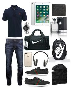 """""""Untitled #126"""" by fatimafaisal619 ❤ liked on Polyvore featuring Alexander McQueen, Gucci, Jack & Jones, Arc'teryx, Master & Dynamic, NIKE, Bulgari, men's fashion and menswear"""