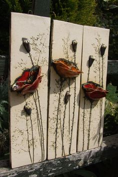 Ceramic Birds, Ceramic Flowers, Clay Flowers, Ceramic Art, Concours Design, Plaster Art, Keramik Vase, Pottery Making, Expo