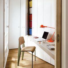 J'aménage un coin bureau dans un couloir, bureau, bureau chez soi, aménager un bureau chez soi, office, office at home
