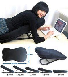 Laptop stand/cushion    https://sphotos-a.xx.fbcdn.net/hphotos-ash4/s480x480/430137_389429801126730_1912466566_n.jpg