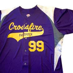 3 Color Button Down Custom Baseball Jersey with Your Names and Numbers Custom Sportswear, Baseball Jerseys, Graphite, How To Look Better, Detail, Amazon, Purple, Jackets, Clothes