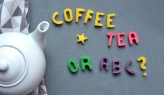DIY Sugar Letters using super fine sugar, water, food coloring and molds  (... or can crush sugar cubes if the super fine sugar is not readily available)