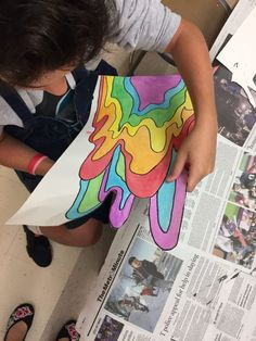 Group Art Projects, Middle School Art Projects, Art School, Collaborative Art Projects For Kids, Back To School Art, Art Lessons For Kids, Art Lessons Elementary, Jen Stark, Collaborative Mural