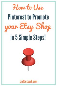 Today I answer the question How Do I Promote My Craft Business on Pinterest so that you can begin to use Pinterest to send traffic to your Etsy shop or website