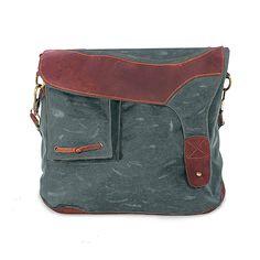 iPad Bag, Waxed Canvas, Leather (The Alegna Purse)