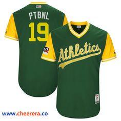 c674646ee Men's Oakland Athletics Josh Phegley PTBNL Majestic Green-Yellow 2018  Players' Weekend Authentic Jersey