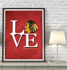 Chicago Blackhawks hockey Inspired ART PRINT by ParodyArtPrints