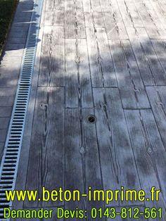Beton Imprimé Imitation Bois Gris #beton