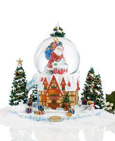 Christopher Radko Rooftop Santa Chalet Snow Globe