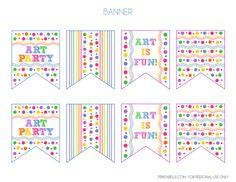 FREE Art Party Printables + Extras!  #freeprintables #artparty #banner