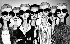Girls in Glasses by Danny Roberts via Etsy.