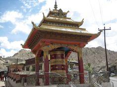 Om Manipadme hum...one of the giant prayer wheels in Leh, the capital of Ladakh...