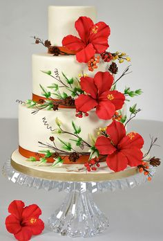 fondant flower wedding cakes 10