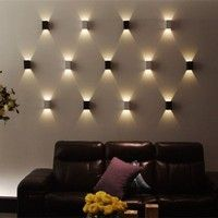 100% Brand New. 2 Colors for your choice: Yellow, White 3W LED Indoor Wall Light Lamp Size:6cm x