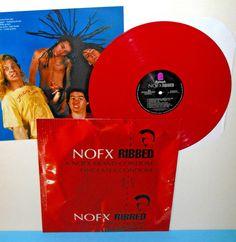 NOFX ribbed Lp Record RED Vinyl with lyrics insert , LIMITED EDITION #punkPunkNewWave
