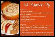 Fall Pumpkin Dip -