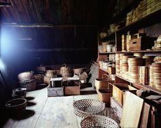 attic storage at Sabbathday Lake Shaker Village; photo by Curt DeBaun