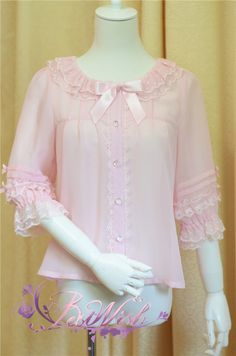 Best Wish ***Macaroon Candy Color Chiffon *** Lolita Blouse - My Lolita Dress