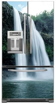 High Waterfall Magnetic French Door Refrigerator Covers | Waterfall Magnet  Skins, Covers And Panels Are