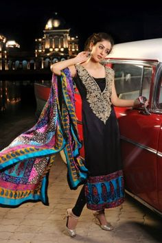Designer Shirin Hassan Latest Block Prints Formal Wear Dresses 2012 Collection_02