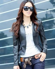 #  leather jacket  #2dayslook #new leather jacket #jacketfashion  www.2dayslook.com